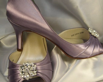 Purple Wedding Shoes Purple Bridal Shoes Over 100 Colors To Pick From Wedding Shoes with Rhinestone Crystal Flower