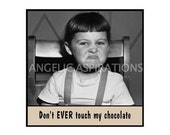 Retro Inspired Magnet - Don't EVER touch my chocolate