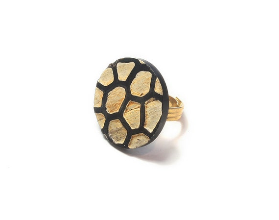 Ring made from vintage jewelry. Adjustable, beautiful and one of a kind.