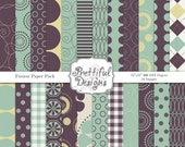 Digital Paper Pack  Personal and Commercial Use - Fusion