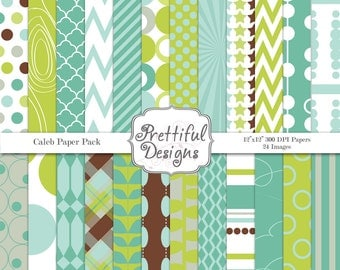 Digital Paper Pack  - Personal and Commercial Use - Caleb