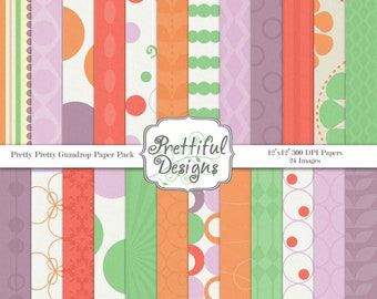 Digital Paper Pack  - Personal and Commercial Use - Pretty Pretty Gumdrop