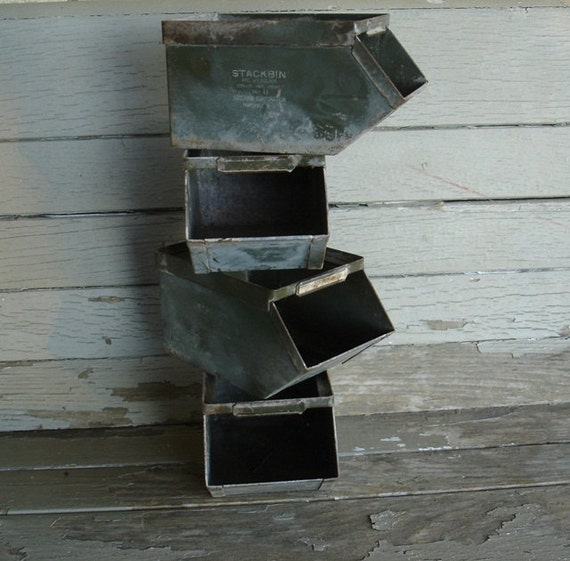 Small Metal Industrial Factory Stack Parts Bin
