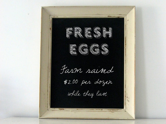 Farmhouse Kitchen Chalkboard, Cottage Chic Menu Board