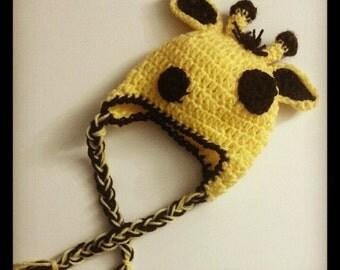 Newborn Giraffe Hat - Made to Order - Photography Prop