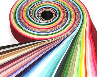 60Yards 40mm(1 1/2'') 60 Colors Solid Grosgrain Ribbon Set