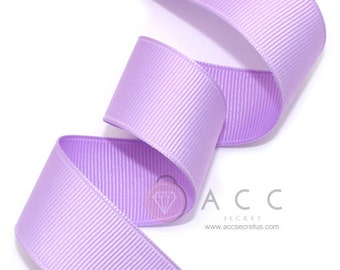 5Yards  Light Purple Solid Grosgrain Ribbon - 5mm(2/8''), 10mm(3/8''), 15mm(5/8''), 25mm(1''), and 40mm(1 1/2'')