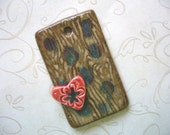 The Unusual - My Little Red Heart 3D Ceramic Pendant