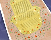 Ketubah - Humsa with pome...