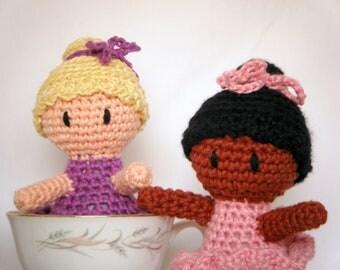 CUSTOM Amigurumi Baby Doll Hand Crocheted Ballerina Girl