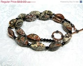 Leopardskin Jasper Bali Copper Necklace