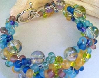 Bracelet Colors of a Summer Day, Handmade Jewelry, Custom Jewlelry