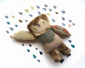Brian  owl,  soft art toy by Wassupbrothers