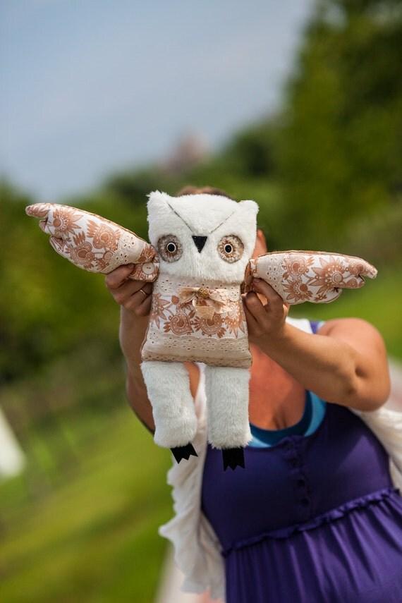 Ferdinand  owl , soft art  toy by  Wassupbrothers