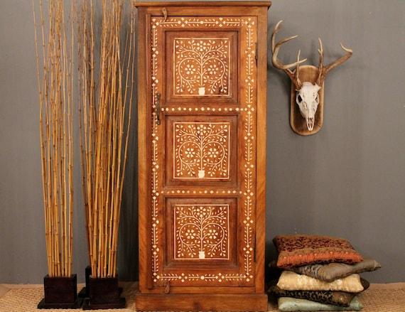 Antique Bone Inlay Cabinet
