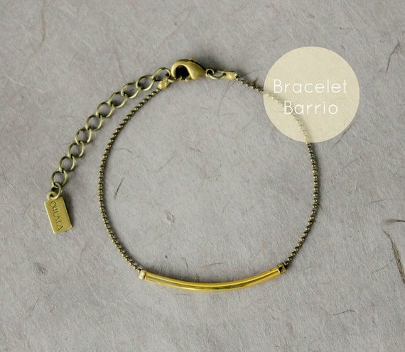 WARM MY SOUL - Barrio Bracelet tiny ball chain and golden tube