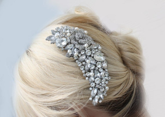 Large crystal hair comb,Bridal hair accessories, wedding hair comb rhinestone,crystal wedding comb, bridal hair comb crystal,bridal comb