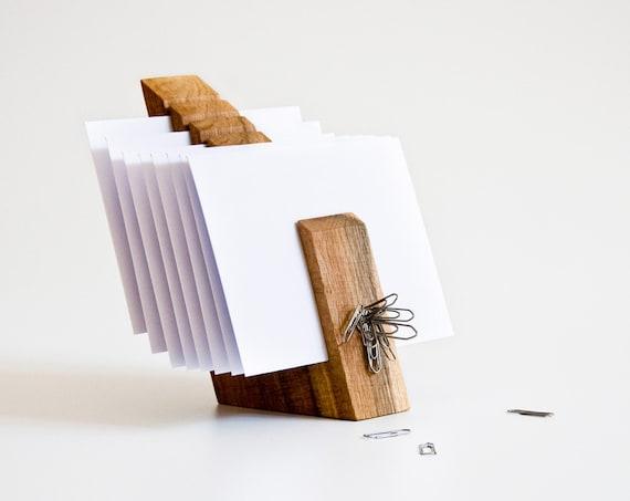 Letter Holder Wood Mail Organizer Desk Organization OSCAR