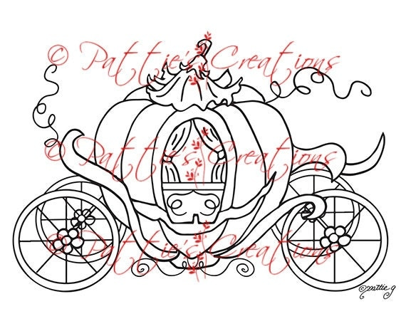 Princess Pumpkin Coach By Pattiescreations On Etsy