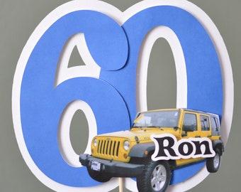16th 20th 30th 40th 50th 60th Birthday CUSTOM Photo Cake Topper