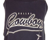 Custom Gameday Shirt or Dress made w/ Cowboys Tshirt - FREE SHIPPING