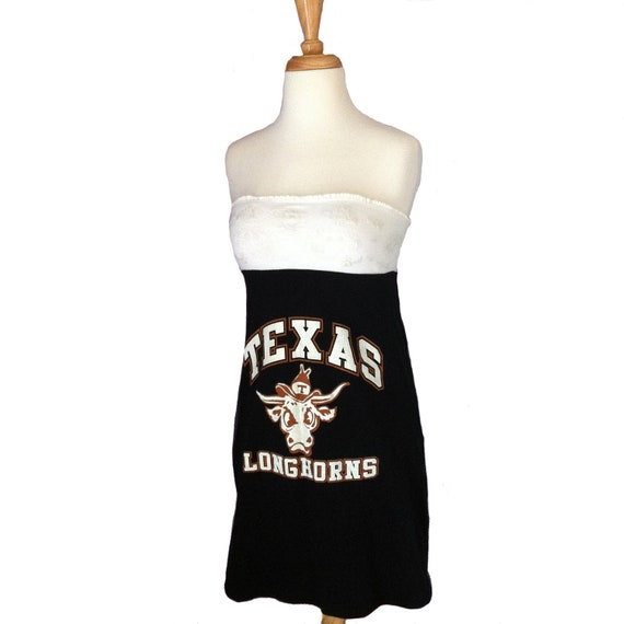 One of a Kind Gameday Dress made w/ Texas Tshirt - Small Free Shipping