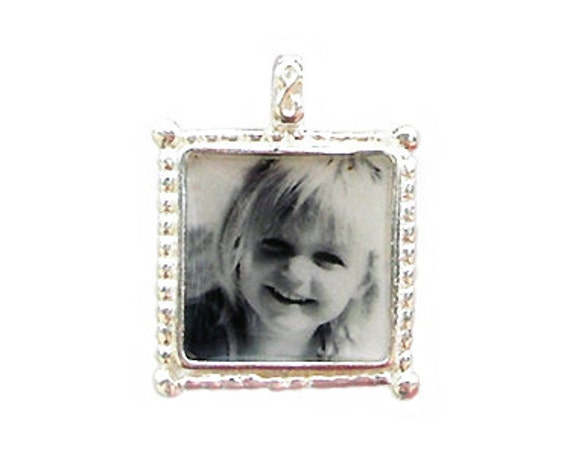 """1/2 """" Sterling Photo Charm"""