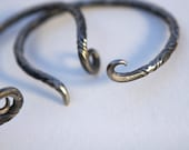 Celtic Ancient Cuff  twisted with spiral ends stainless Steel