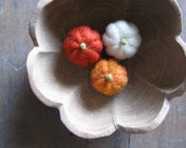 Felted wool pumpkins for Halloween and Harvest, for waldorf children or natural home decor, set of 3
