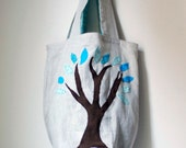 Winter Tree Bag Linen