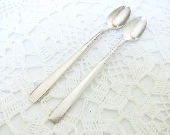 2 Brookwood Silver Baby Spoons 1950 Banbury //
