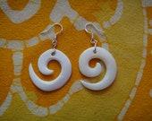 Mini Tribal Koru Spiral Earrings Maori Symbol