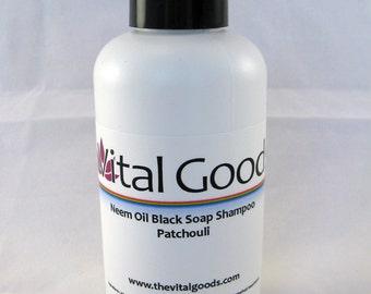 Dreadlock shampoo Patchouli Neem Oil Black Soap  4oz (VEGAN)