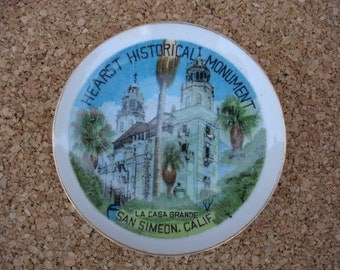 Small Hearst Monument (California) Souvenir Plate