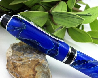Blueberry Tangle Hand-Crafted Writing Pen - FREE Engraving