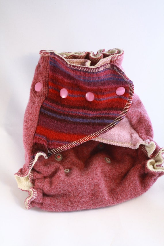 Lambie Love Wool Wrap--One Size Fits Most--Cranberry Delight--Cloth Diaper Cover