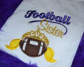 Football Sister embroidered shirt