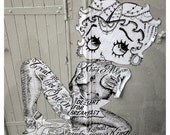 "Betty Boop - ""Dessert for Breakfast"" -  tattoos, Paris graffiti / street art, original artist unknown -  8x8, 12x12, 16x16"