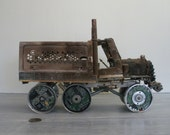 WiFi Outback Truck - Upcycled art -  Sculpture - Steampunk - Assemblage - Mixed Media