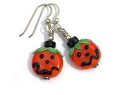 Halloween Pumpkin Earrings by Bead Lovers Korner on Upcycle Fever