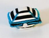 Zebra oyster ring box
