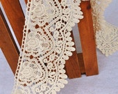 Lace Fabric Trim 1Yards  White Embroidery Lace Gauze 11cm wide