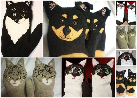 MITTENS Look Just Like Your Pet CUSTOM MADE