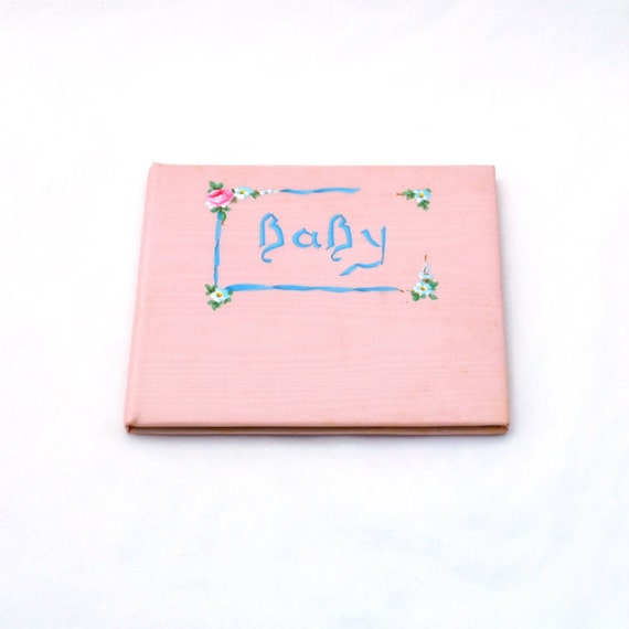 Vintage Baby Book Unused 1928 Illustrations Handpainted Cover