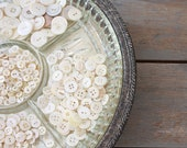 Vintage Round Silver Plate Reticulated Tray with Glass Insert