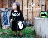 Halloween Dress - Toddler Dress or Girl's Dress -Choose Dress Color and Sleeve Length