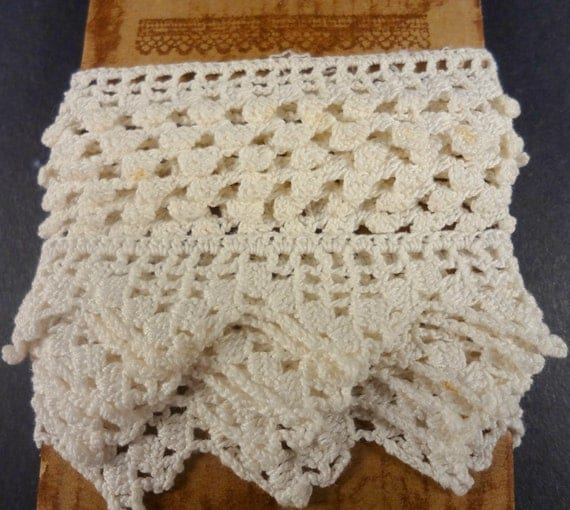 Vintage Handmade Cotton Lace, Trim