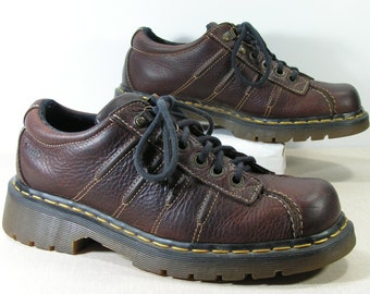 dr martens womens 8.5 b m brown shoes punk grunge doc doctor martens