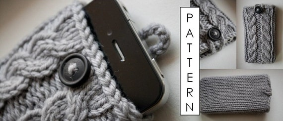 Kare Knits' Signature Cable Knit iPhone Case - KNITTING PATTERN ONLY (updated to include pattern for iPhone 7 and 7 Plus)