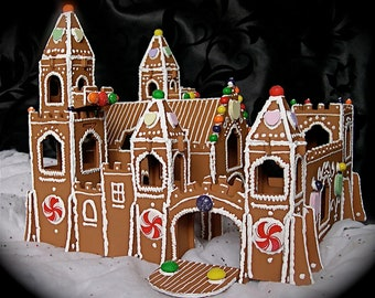 Faux Gingerbread Medieval Castle
